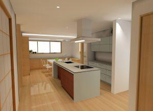 モデルハウス2号店 -kitchen- キッチンパース