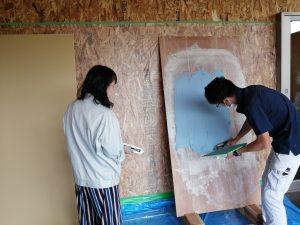 塗り壁体験会いたしました!