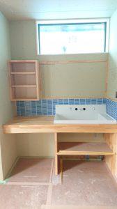 出雲市フルリノベT様邸・造作洗面台