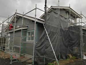一の谷モデルハウスのサイディング