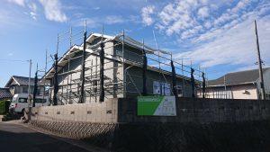 一の谷モデルハウスの工事再開しています