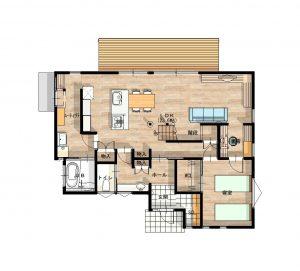 家事楽になるユーティリティスペース・一の谷モデルハウス