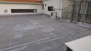 屋上の防水工事完了しました